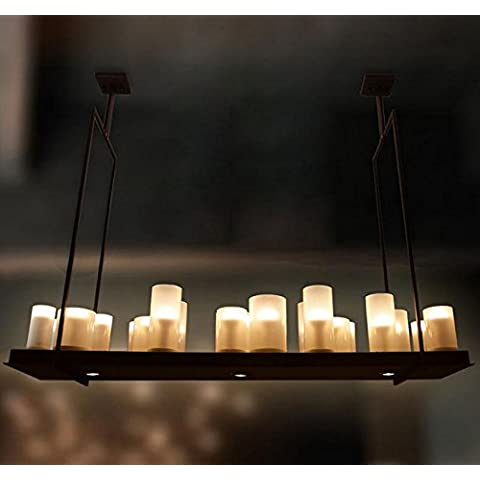 SSBY Vintage American Nordic village coffee shop/ristorante presso il Living Room Bar rettangolo lampada da tavolo lampadario di candela 1280*980mm ,