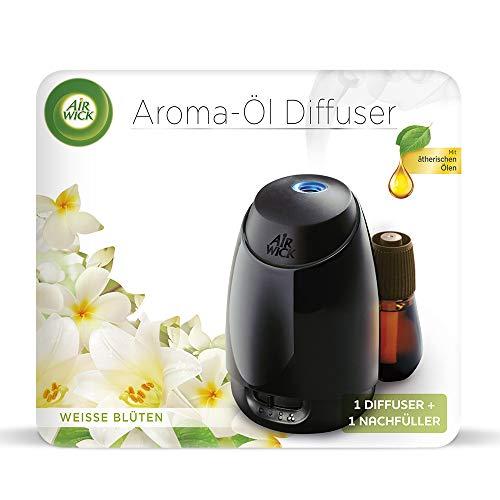 Air Wick Aroma-Öl Diffuser Starter-Set (inklusive Nachfüller Weiße Blüten) 1er Pack (1 x 20 ml)