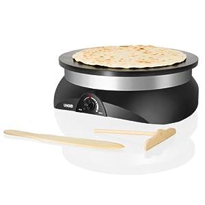 Unold 48155 - Máquina para preparar crepes con gran plato de aluminio de Unold