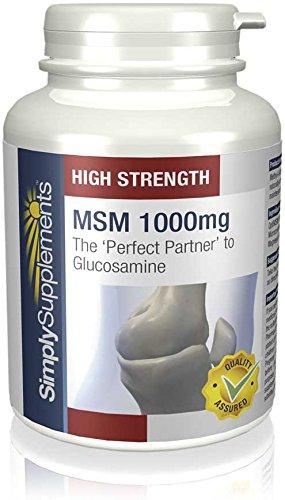 MSM 1000mg (Metilsulfonilmetano) - ¡Bote para 3 meses! - Apto para veganos - 180 comprimidos -...