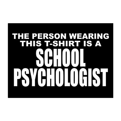 Teeburon The person wearing this T Shirt is a School Psychologist Pack de pegatinas x4