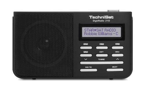 TechniSat DigitRadio 210 tragbares DAB+ Digitalradio (DAB+, DAB, UKW-Empfang) schwarz