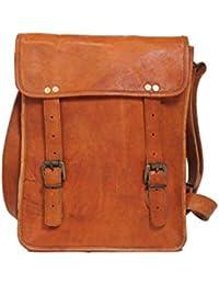 Pranjals House Vintage Genuine Brown Leather Messenger Bag