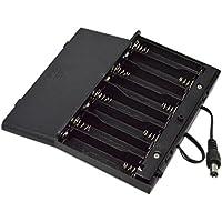 Portapilas, Malloom DIY 12V 8 x AA batería titular caso caja con cables de interruptor