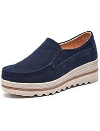 Zapatos De Mujer Plataforma Plana Zapato De Mujer SeñOras Vaca Suede Cuero Primavera OtoñO Mocasines Mocasines