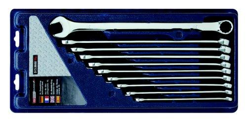 KS TOOLS 519.0660 Jeu de 10 clés mixtes extra longue CHROMEPlus XL ,10-11-12-13-14-15-16-17-18-19