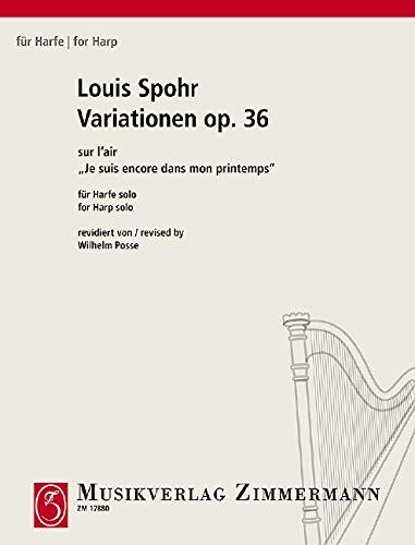 """Variationen: sur l'air """"Je suis encore dans mon printemps"""". op. 36. Harfe. (Für Harfe)"""