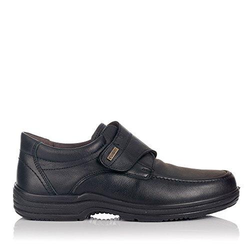 LUISETTI 20412 Zapato Velcro Hombre Negro