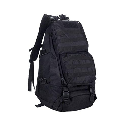 Zaino Tattico Xin.S45L3D Borsa Per Alpinismo All'aperto Impermeabile Borsa Da Viaggio Borsa A Tracolla Sacco Da Viaggio Camouflage Pacchetto Di Assalto. Multicolore Black