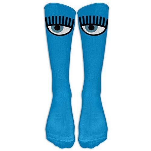 Crew Sports Novelty Warm Winter Knee High Socks Halloween Party Cute Funny Skull Men 1 Pair Long Tube Stockings for Running Jogging -