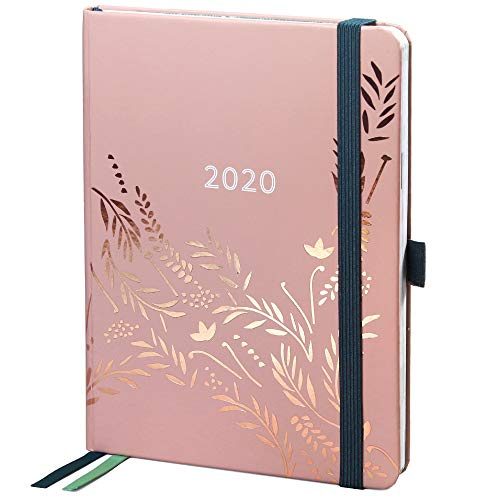 Agenda 2020 Everyday di Boxclever Press. Diario 2020 da Gennaio a Dicembre 2020 con vista settimanale. Taccuino con panoramica mensile, pagine delle spese e pagine note con puntini. (Rosa Antico)
