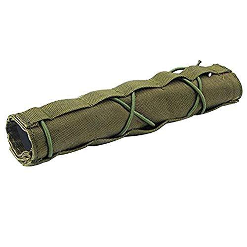 WLXW Equipo Táctico, Pistola de Aire Rifle Supresor Cubierta Pistola de Aire Militar Tiro Táctico Silenciador Cubierta de Liberación Rápida Disparo Silenciador Protector de Bafle,Green