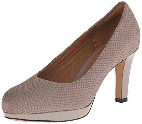 Pompe Clarks Delsie Bliss Dress Light Grey Snake Nubuck
