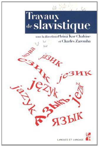 Travaux de slavistique