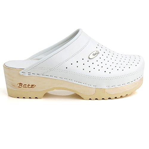 Batz FLEX Hochwertigem Komfortschuhe, Lederschuhe, Pantolette, Clog, Damen Weiß