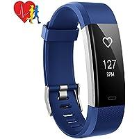 Pulsera Actividad Mpow, 14 Modos de Ejercicio, Pulsera Inteligente con Monitor de Ritmo Cardíaco Calorías Sueño, Fitness Tracker con GPS Seguimiento de Rutas, Alarmas, Notificación, Control de Cámara