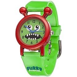 Furry Friends Red Chomp Watch - Kids Boys Girls Fun Watches Animal