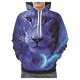 Rosennie Herren Sweatshirts Hooded 3D Digital Kapuzenpullover Herren Herbst Langarm Sweatershirt Top Bluse Hoodie Pullover Pulli Sweat Oberteile Bekleidung Mantel Outwear (Mehrfarbig C,3XL)