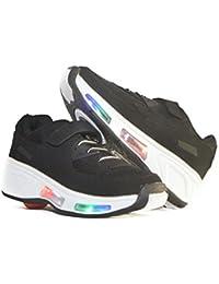 Usay like Envio 24H Zapatillas Con Ruedas Color Negra Para Niños Talla 30 hasta 38 Envio Desde España