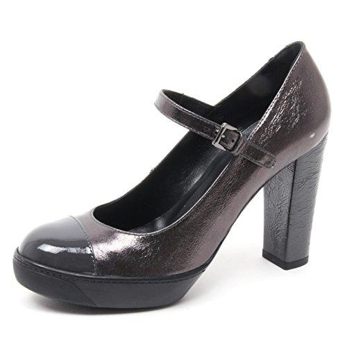B4142 decollete donna HOGAN OPTY 188 scarpa grigio scuro cinturino shoe  woman f839b89d17c