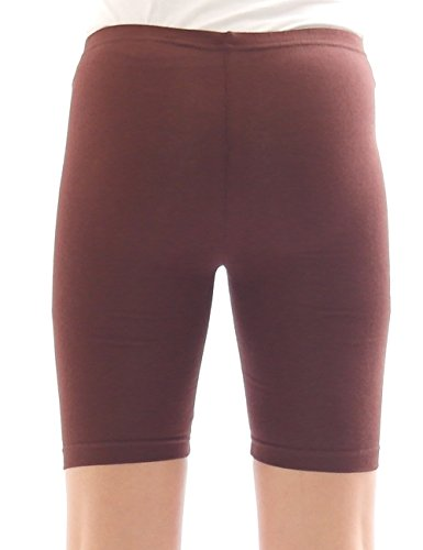 Femmes Sport Shorts Shorty Shorts Sport Radler court Leggings Coton Marron
