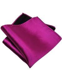 schönes gewebtes TigerTie Designer Satin Seideneinstecktuch in einfarbig Uni - Tuch 100 % Seide