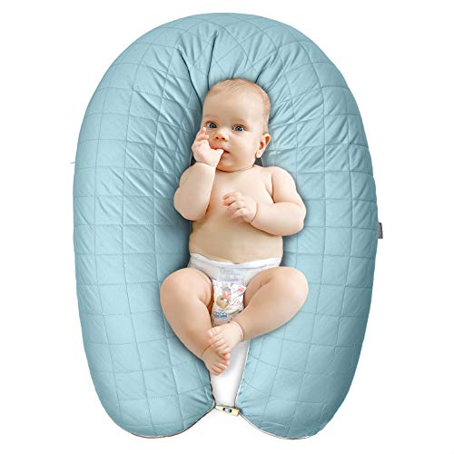 Sei Design Stillkissen Lagerungskissen Schwangerschaftskissen, 100% feinste Mako-Satin Baumwolle mit Reißverschluss, 200 x 35 cm -