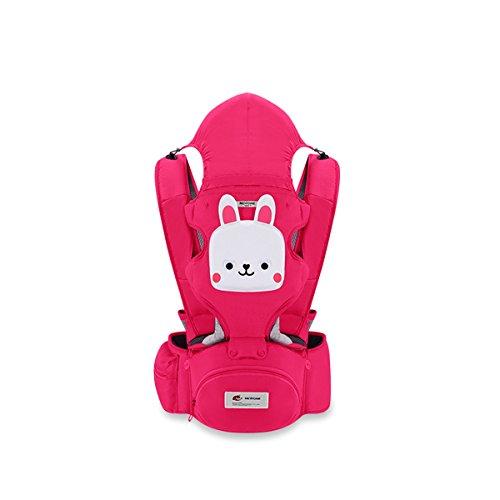 SONARIN 3 in 1 Multifunktions Karikatur Hipseat Baby Carrier,Babytrage,Ergonomisch,Freie Größe,Gemütlich & Beruhigend für Babys,Angepasst an Ihr Kind wachsende,100{e2111589d9543b32395b33d435ed2d47f255de43ceb0c81f4aabd16564f4a728} GARANTIE, Ideal Geschenk(Rosa)