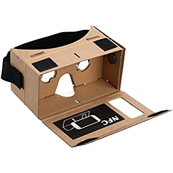 Sinbury® Google Cardboard Headset 3D Virtual Reality VR Goggles for Android iPhone Ios with NFC and Head-strap