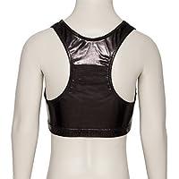 Katz Dancewear Ladies Girls Shiny Metallic Dance Racer Back Crop Top KCTM-5