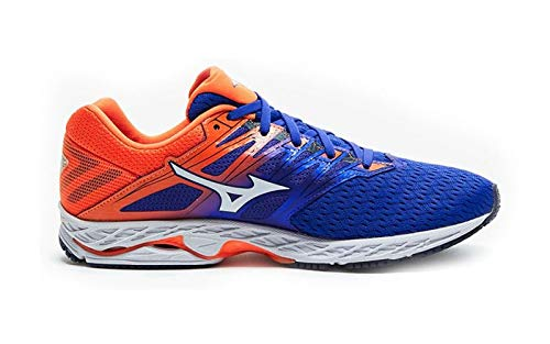 Mizuno Men Wave Shadow 2 Competition Running Shoe Running Shoes Blue - Orange 11