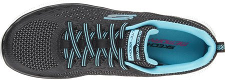 Skechers  Flex Appeal Arctic Chill, Sneakers Basses femme Black/Blue