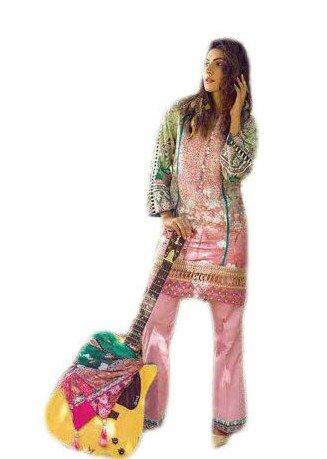 Anasha Fashions Pakistani Salwar Kameez Digital Print With Self Emberiordery