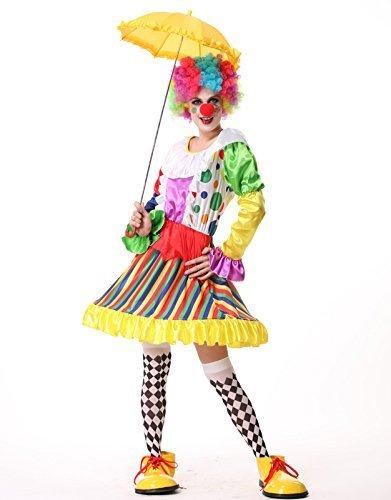 Clown Clown Damen Frau Erwachsener Halloween Halloween Kostuem Waren Tanzfestival Kostuem L Groesse (Hoehe: 166cm-172cm) anime sensen