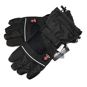 Thermrup Beheizbare Handschuhe mit 4 Stufen Temperaturregler, wasserabweichend atmungsaktive mit Thinsulate 3M, Akkubetrieb