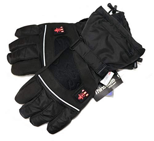Thermrup Beheizbare Handschuhe mit 4 Stufen Temperaturregler, wasserabweichend atmungsaktive mit Thinsulate 3M, Akkubetrieb (XL)