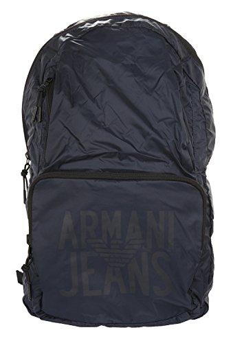 Armani Jeans Herren Zaino Rucksack, Blau (Dress Blues), 48x15x29 cm -
