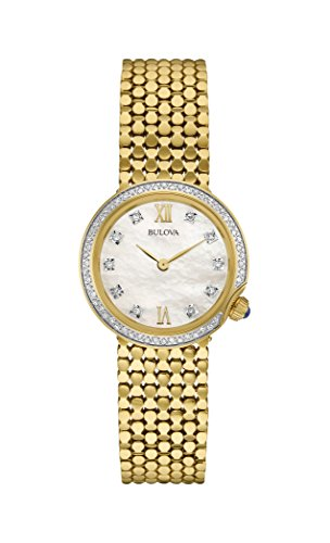 Bulova Damas de Diamantes Funda para Mujer Reloj Pulsera-Dorado Reloj de Pulsera 98W218