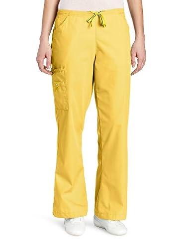 WonderWink Women's Scrubs Romeo Six-Pocket Flare Leg Pant - Yellow -