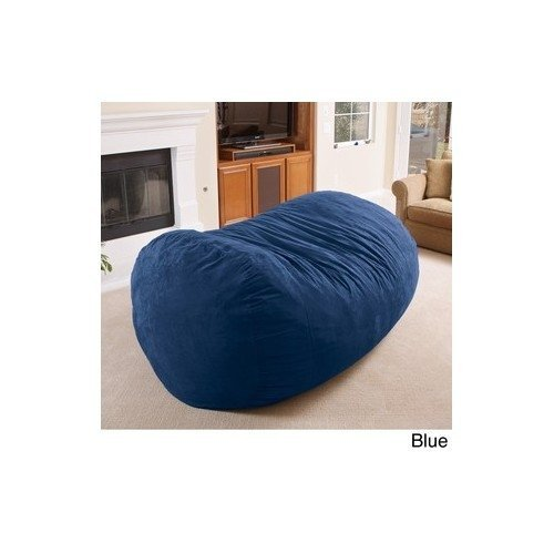 Bean Bag Chair - Super comfortable and cozy. This Oversized Lounger Bean Bag will be a great adult or kids bean bag. Beacuse of the 8ft size it can be used as a bean bag sofa. Not a slacker bean bag, just a great overall big bean bag chair. by Larson