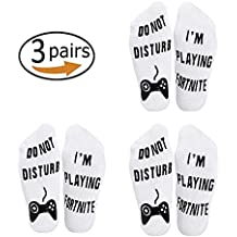 Tefamore Calcetines de algodón Divertidos en el Tobillo: No Molestar, Estoy Jugando a Gaming