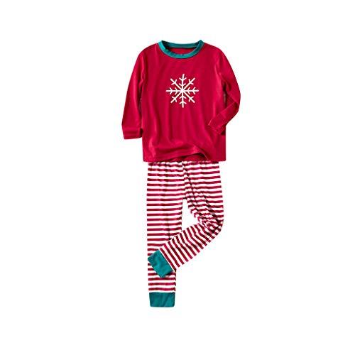 i-uend Baby Mädchen (Tops + Hosen) Herbst Suit Outfits Mit Kapuze Babykleidung Weihnachten Kinder Kinder Gedruckt Top + Streifen Hosen Weihnachten Familie Kleidung Pyjamas
