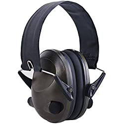 Prinfong TAC 6S Conception Pliable Anti-Bruit Annulation de Bruit Casque de tir Tactique rembourré oreillette électronique pour la Chasse Sportive