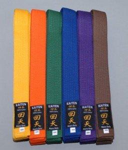 KAITEN Karategürtel, Farbgürtel aus Baumwolle