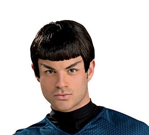 rücke Plastik für Erwachsene (Star Trek Spock Perücke)