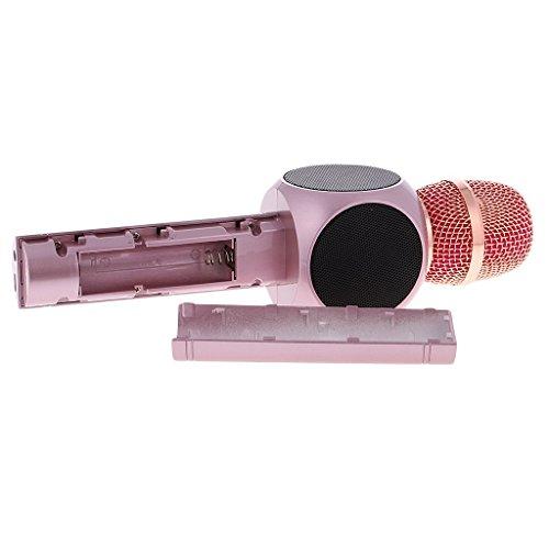 Microfono Wireless Portatile Altoparlante per Microfono Senza Fili, Amicool Altoparlante per lettore Karaoke per portatili Bluetooth per Apple iPhone Smartphone o PC per Apple iPhone, Casa KTV Outdoor rosa