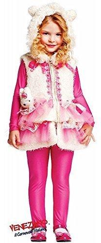 Kostüm Häschen Deluxe - Fancy Me Italienische Herstellung Deluxe Baby &Ältere Mädchen Pink Cartoon Häschen Kostüm Kleid Outfit 0-6 Jahre - Rosa, 6 Years