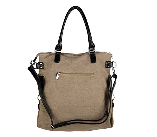 Your Best Choice, Borsa a spalla donna grigio Grau Taglia unica cachi