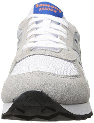 Saucony Uomo Shadow Original Trainers, Bianco White / Blue