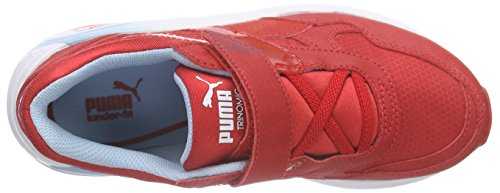 Puma R698 Mesh-Neoprene V Inf, Sneakers basses mixte enfant Rouge - Rot (high risk red-high risk red 04)